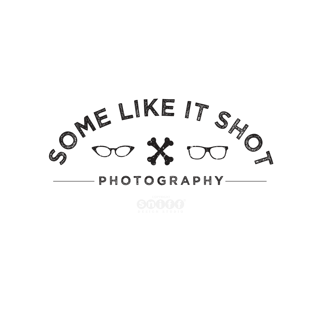 Some Like It Shot Pet Photography Logo Design by Sniff Design Studio, award winning pet business branding agency