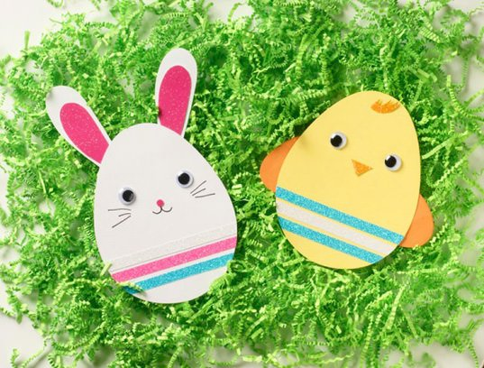 DIY pet design bunny and chick Easter card set