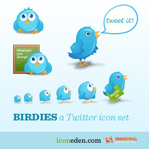 free pet design twitter icon set by Icon Eden