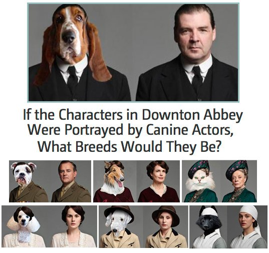 Downtown Abby Canine Characters - What If