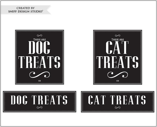Free Pet Label Design Set from Sniff Design Studio