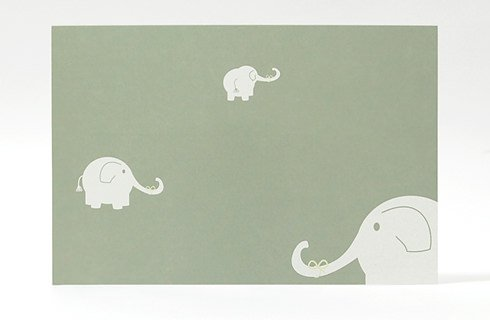 Elephant postcard design