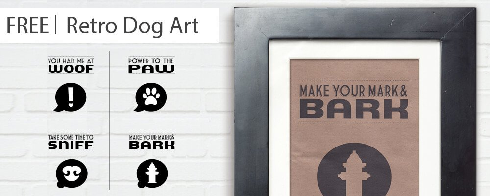 Retro Dog Art – DIY Printable