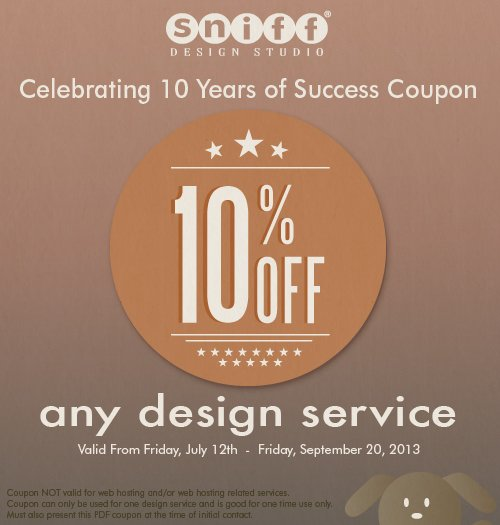 sniff design discount coupon