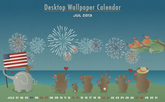 Free 4th of July Desktop Background Pet Design