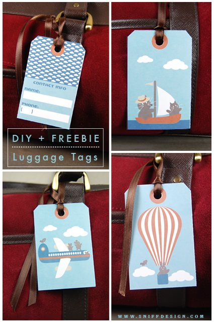 Sniff Design DIY Animal Design Luggage Tags