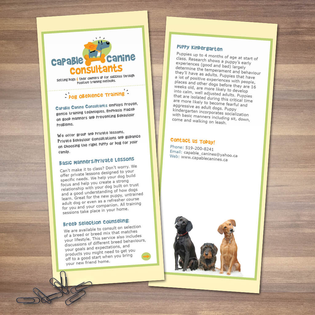 Capable-Canine-Consult-Dog-Training-Rack-Card-Design