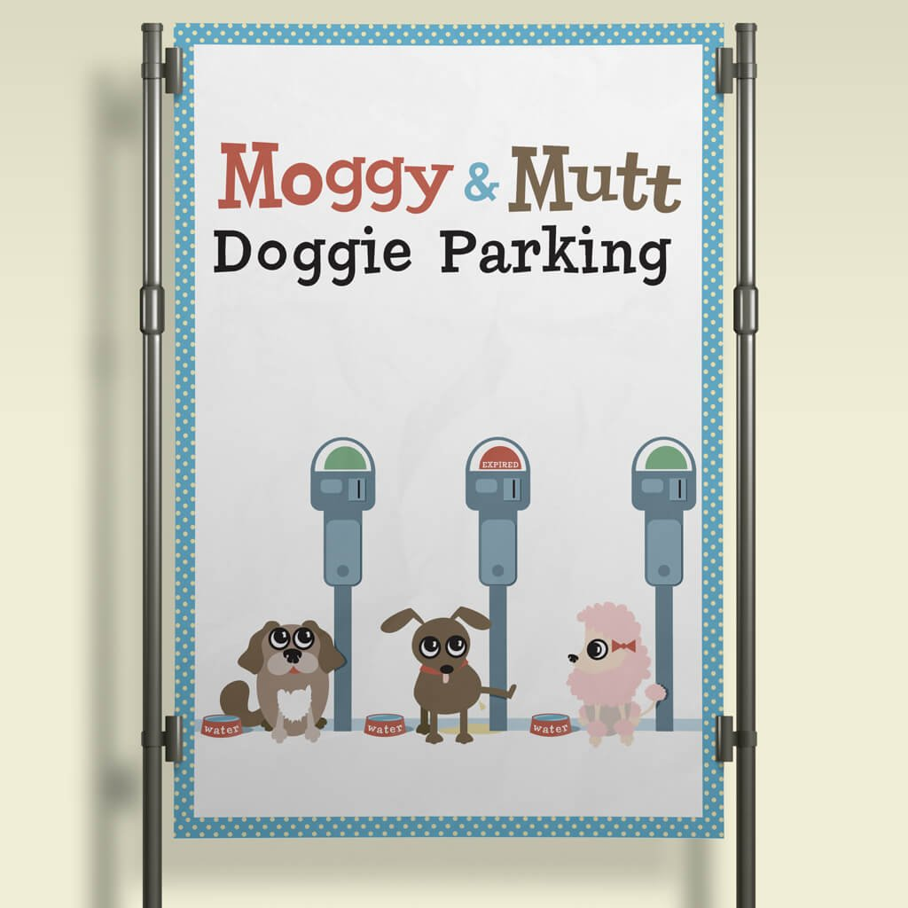 Moggy&Mutt Dog Parking Signage