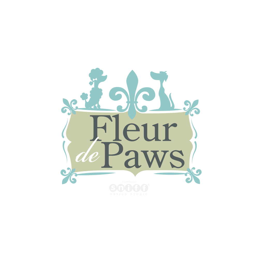 2016 updated pet grooming logo design for Fleur De Paws