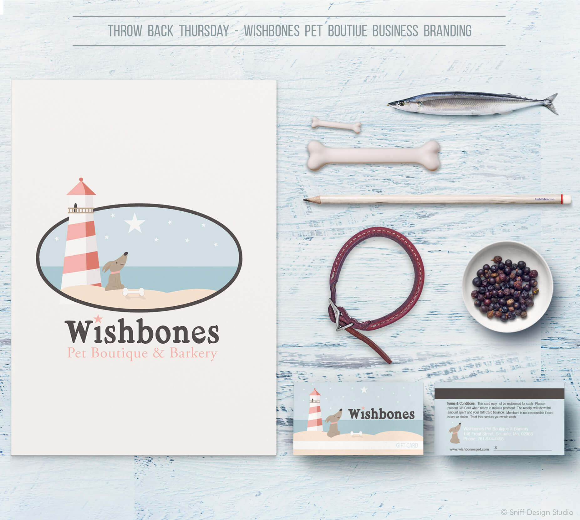 Wishbones Pet Boutique business branding design