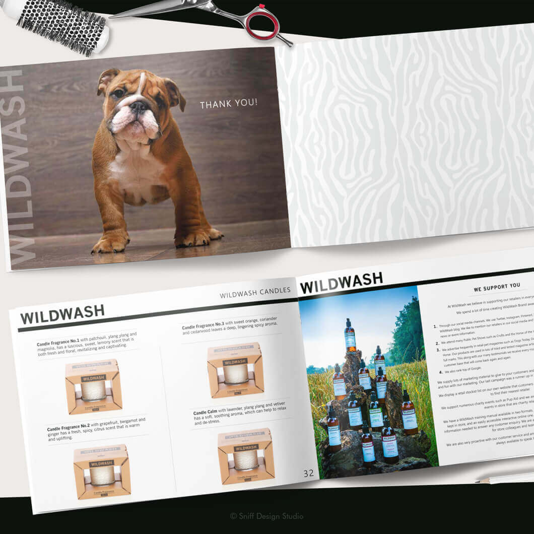 Marketing Document Design for WildWash Pet Shampoo View 9
