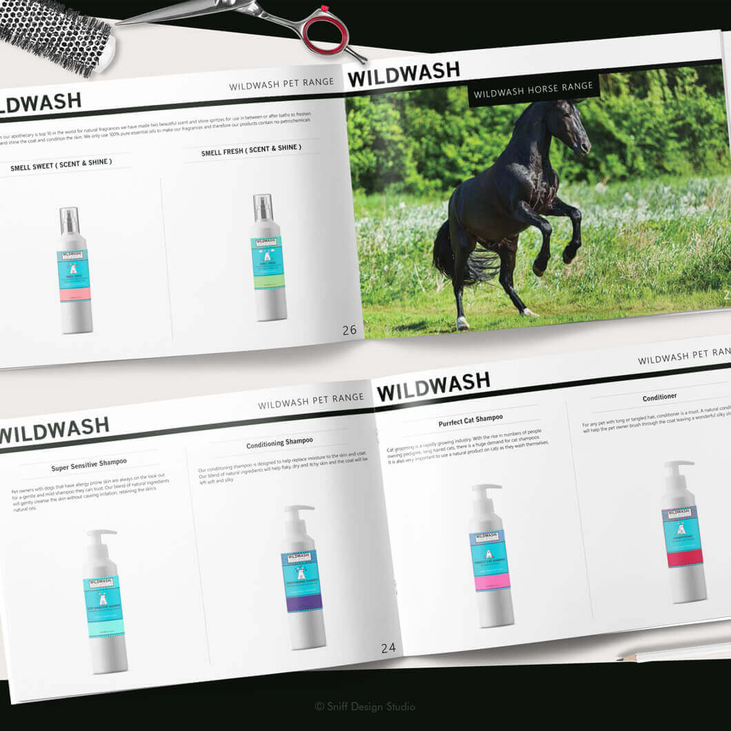 Marketing Document Design for WildWash Pet Shampoo View 7