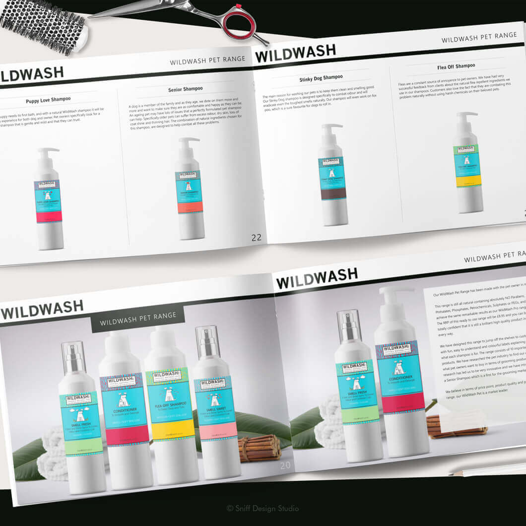 Marketing Document Design for WildWash Pet Shampoo View 6