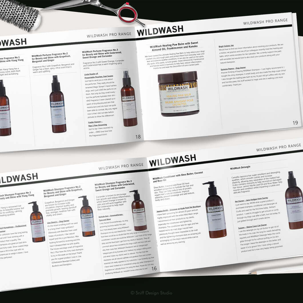 Marketing Document Design for WildWash Pet Shampoo View 5