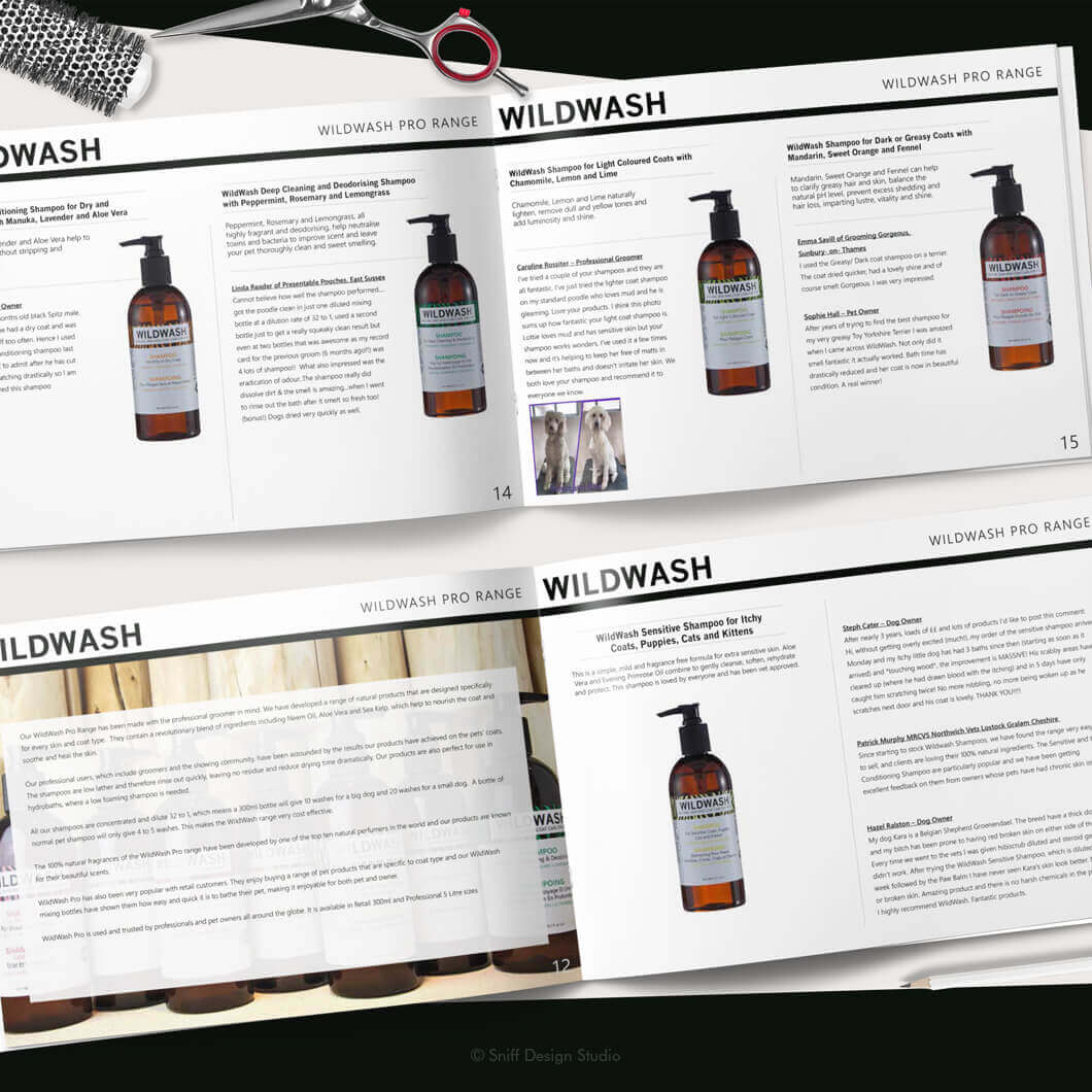 Marketing Document Design for WildWash Pet Shampoo View 4