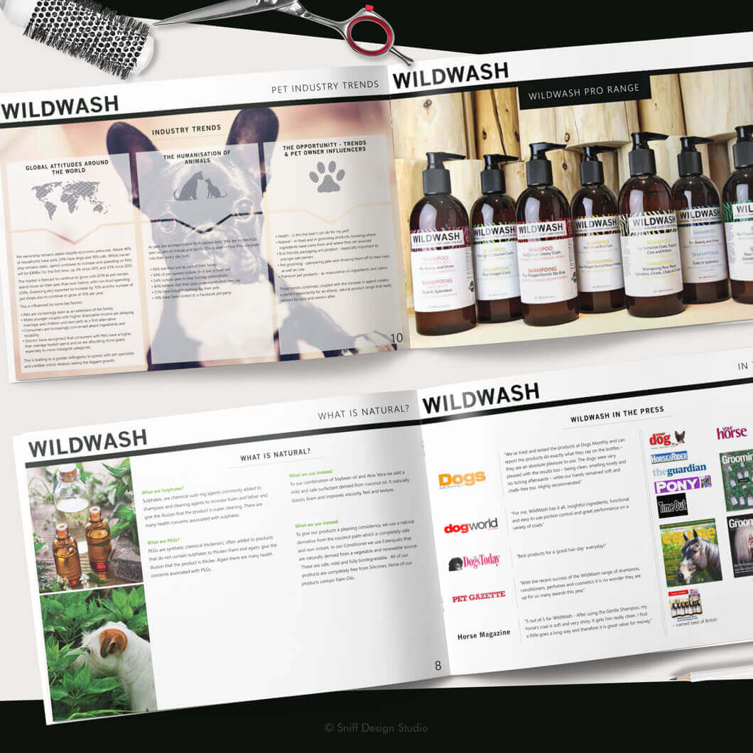 Marketing Document Design for WildWash Pet Shampoo View 3