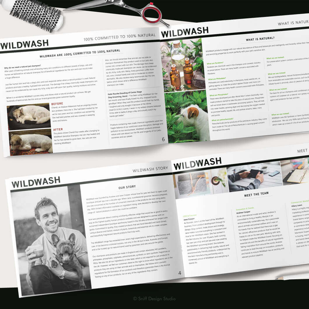 Marketing Document Design for WildWash Pet Shampoo View 2