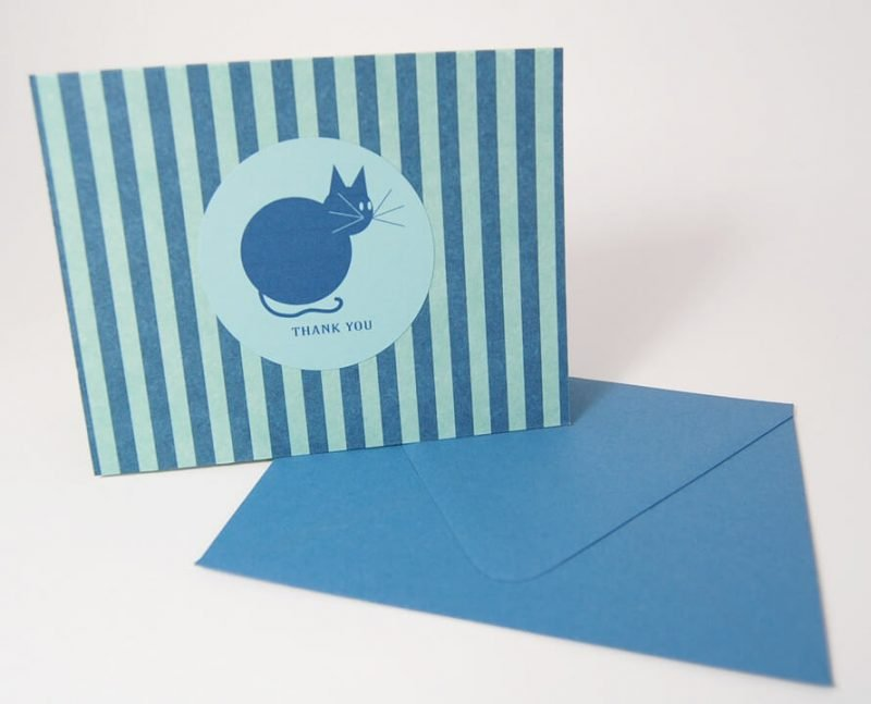 Pretty-Kitty-Thank-You-Card-Set-UpcloseStanding-by-SniffDesignStudio