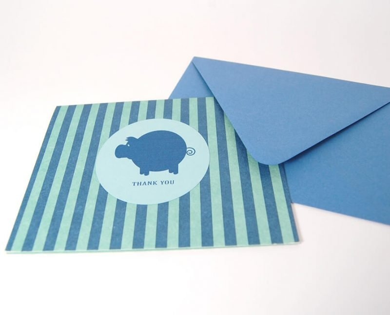 Polished-Piggy-Thank-You-Card-Set-Upclose-by-SniffDesignStudio
