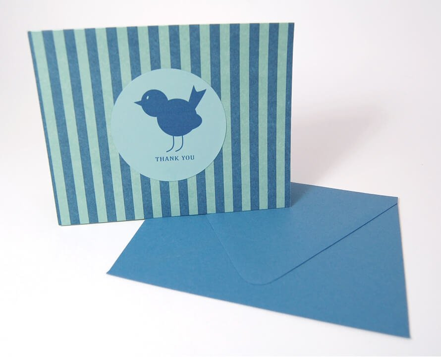 Flirty-Birdy-Thank-You-Card-Set-UpcloseStanding-by-SniffDesignStudio