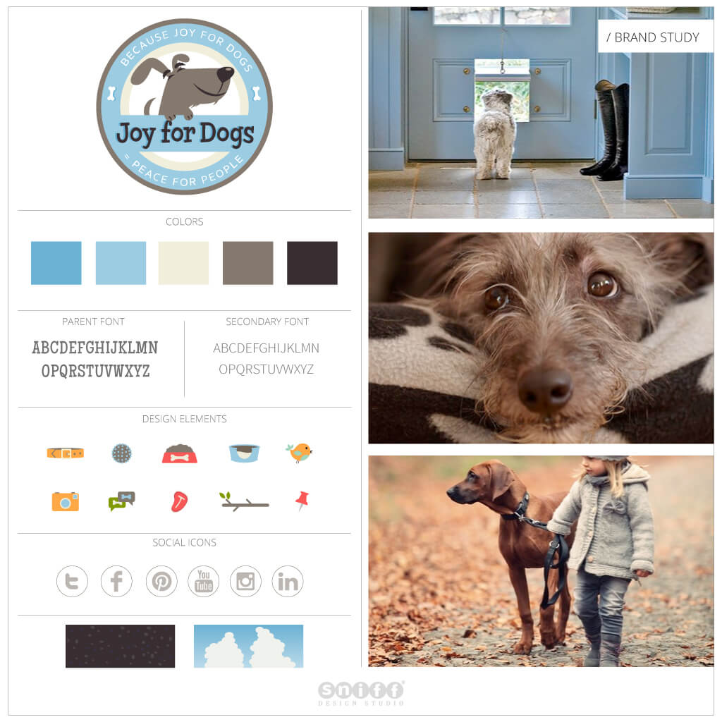 Joy For Dogs Pet Business Brand Study by Sniff Design Studio.