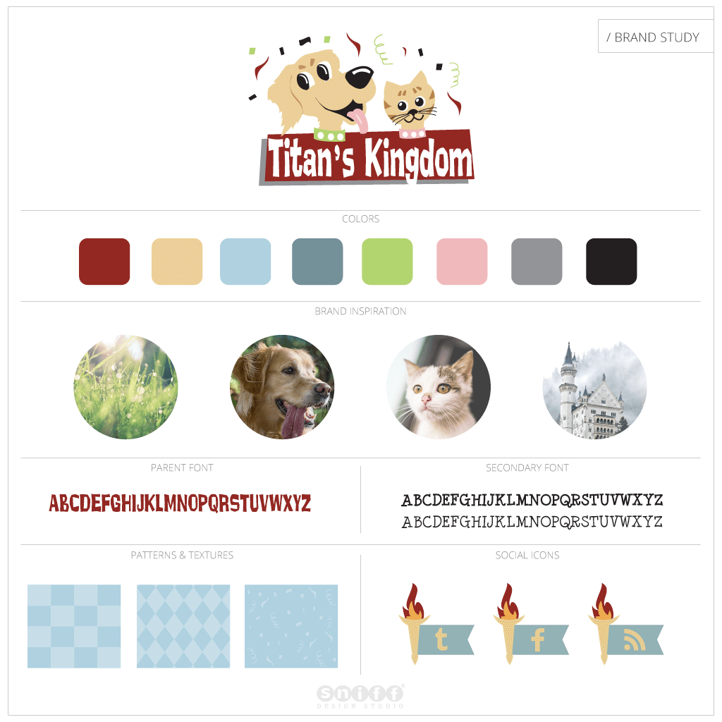 Titans Kingdom Pet Boutique - Pet Business Brand Study by Sniff Design Studio