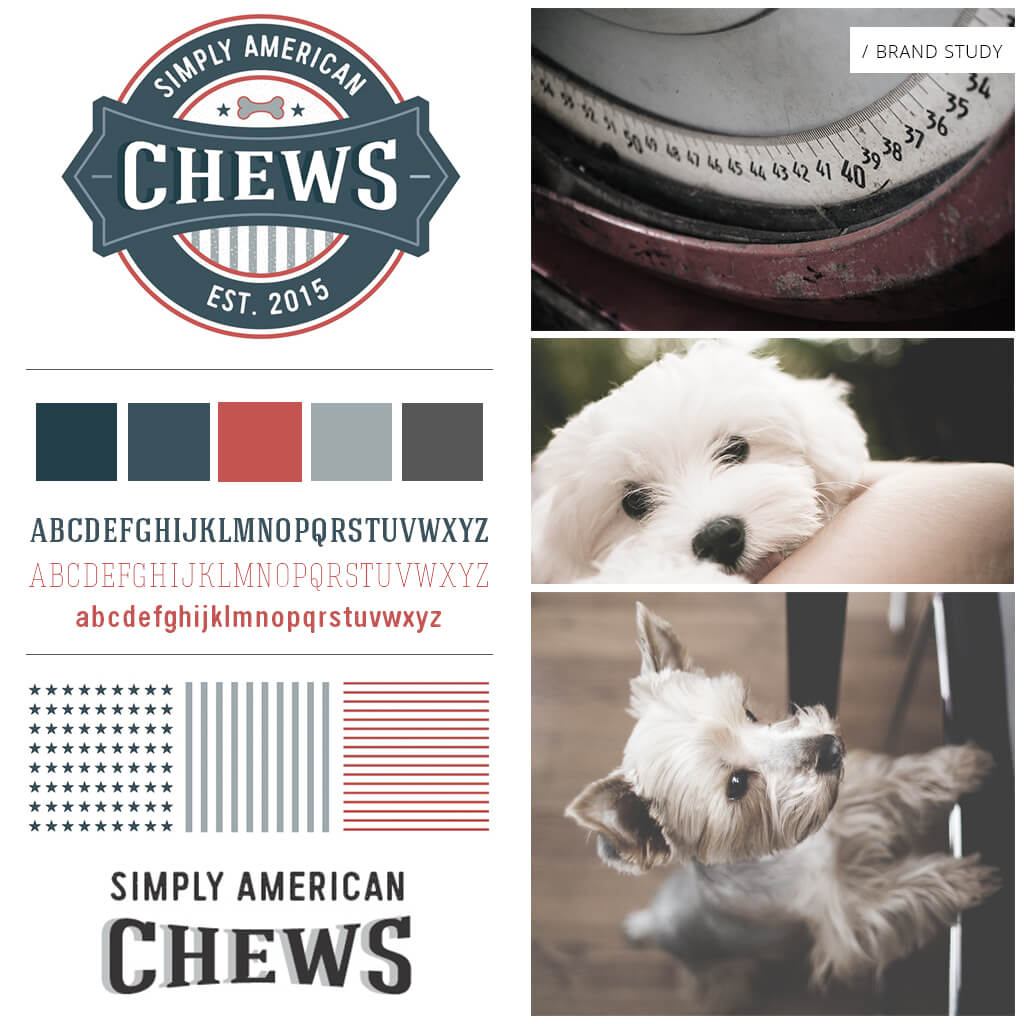 Simply American Chews - Pet Business Brand Study by Sniff Design Studio