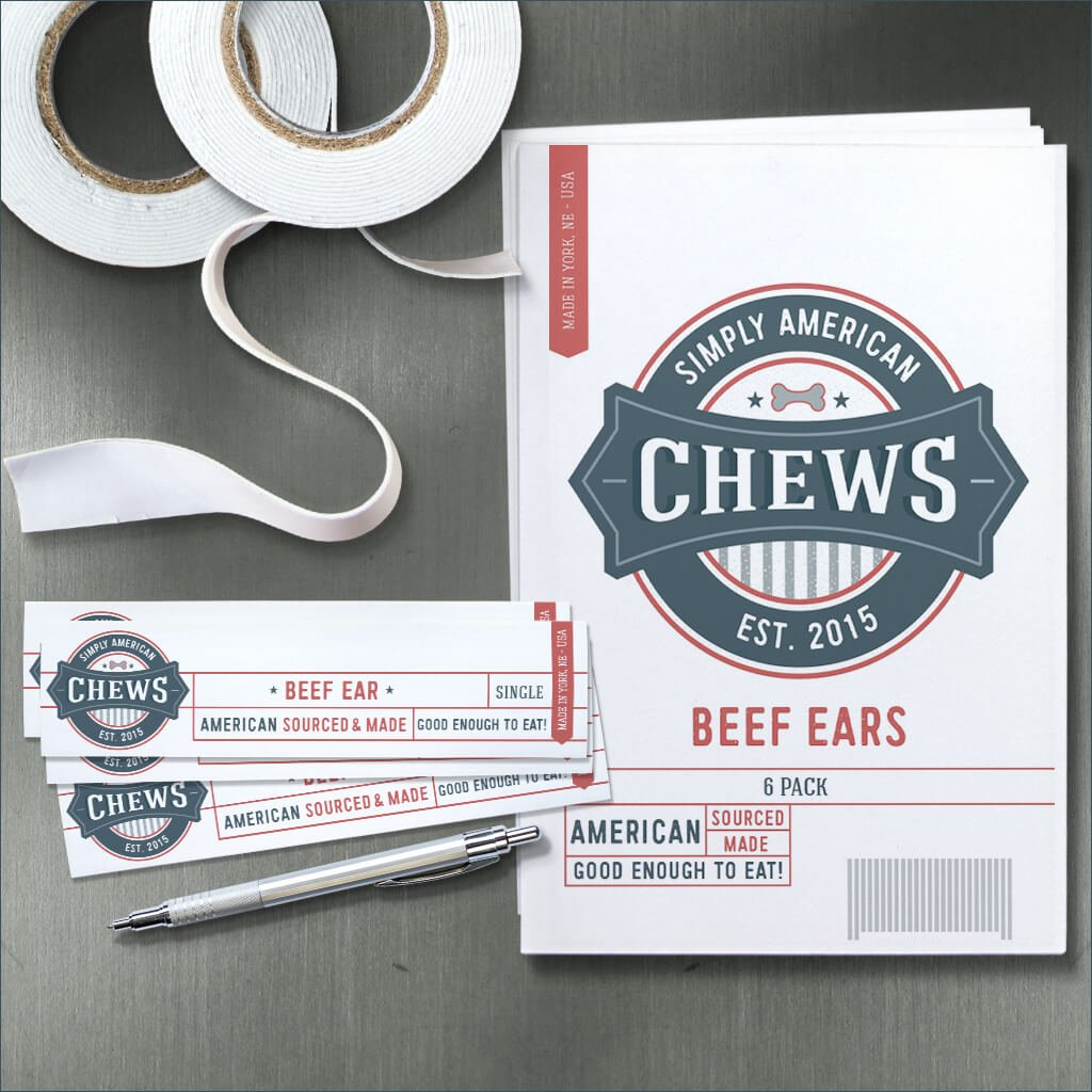 Simply American Chews Product Label Design by Sniff Design Studio