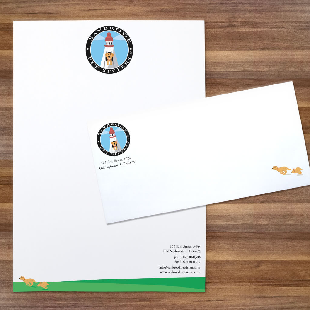 Saybrook Pet Sitters - Pet Business Stationery Set Design