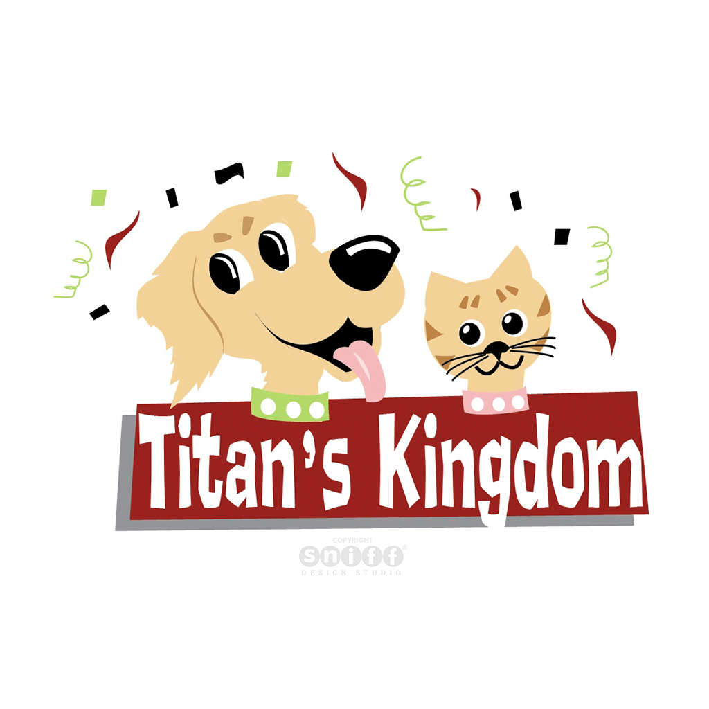 Titans Kingdom Pet Business Logo Design by Sniff Design Studio