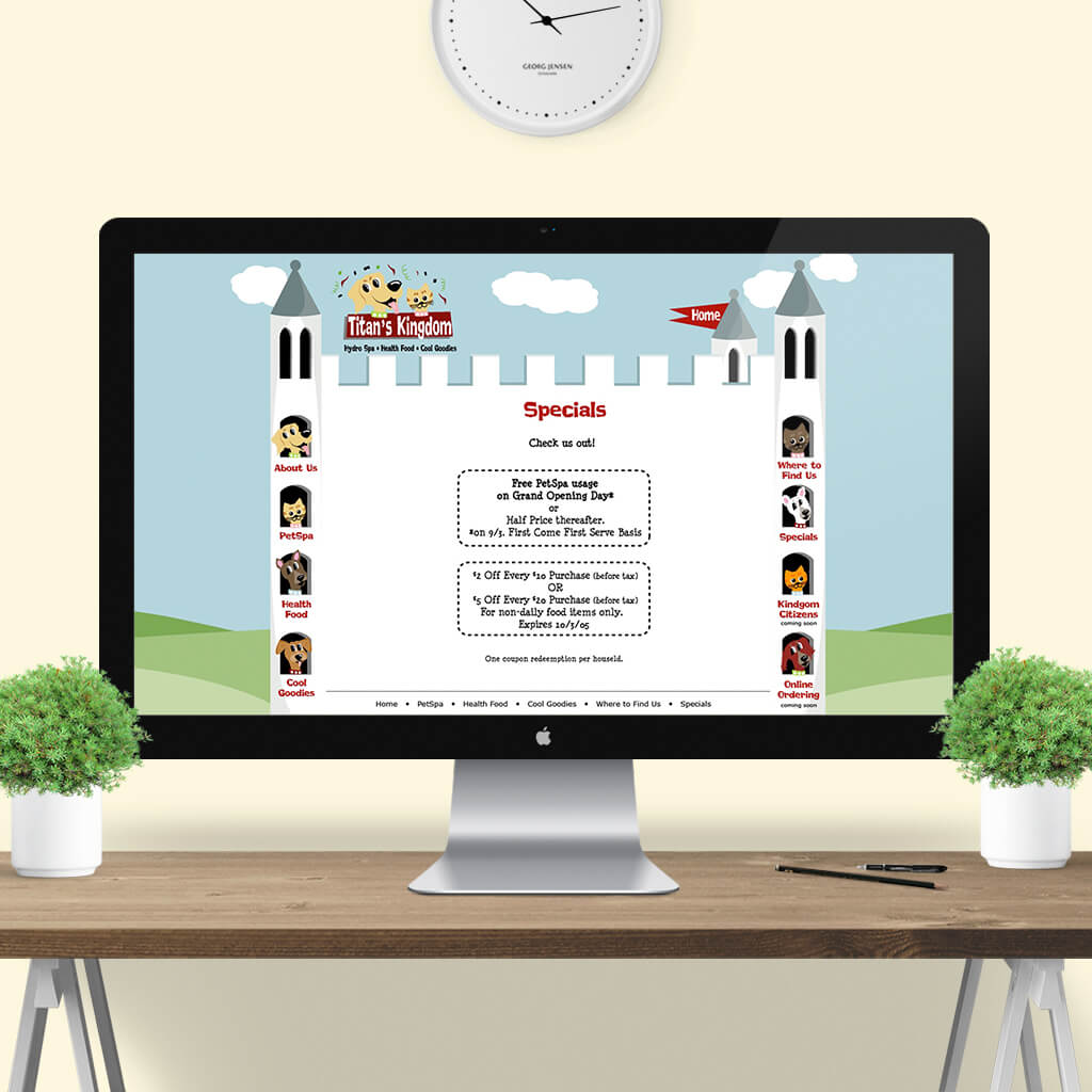 Titans Kingdom Pet Boutique - Pet Business Web Site Design Image 7 by Sniff Design Studio