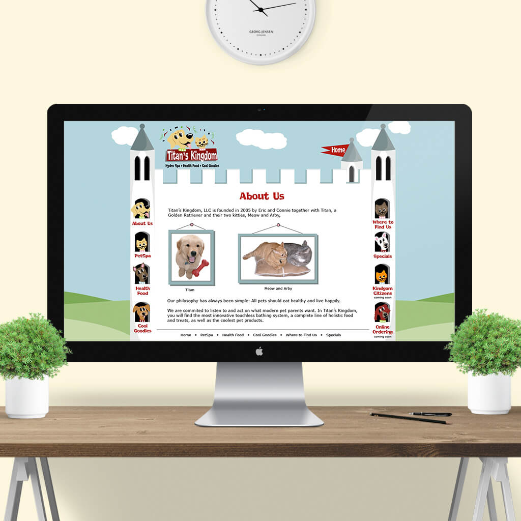 Titans Kingdom Pet Boutique - Pet Business Web Site Design Image 1