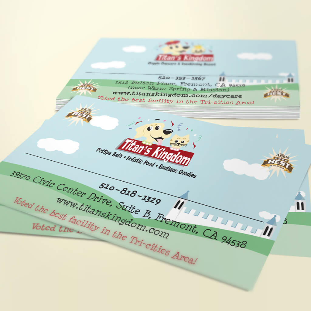 Titans Kingdom Pet Boutique - Pet Business Card Design by Sniff Design Studio
