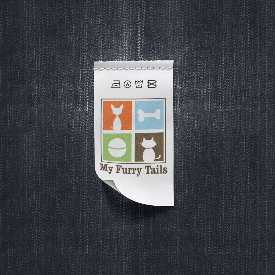 My Furry Tails - Pet Clothing Label Design by Sniff Design Studio