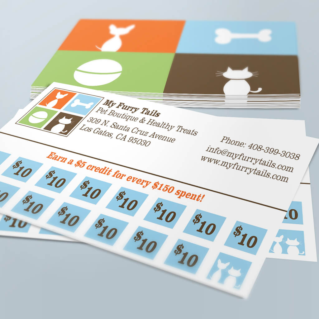 My Furry Tails Pet Boutique - Pet Business Card Design by Sniff Design Studio