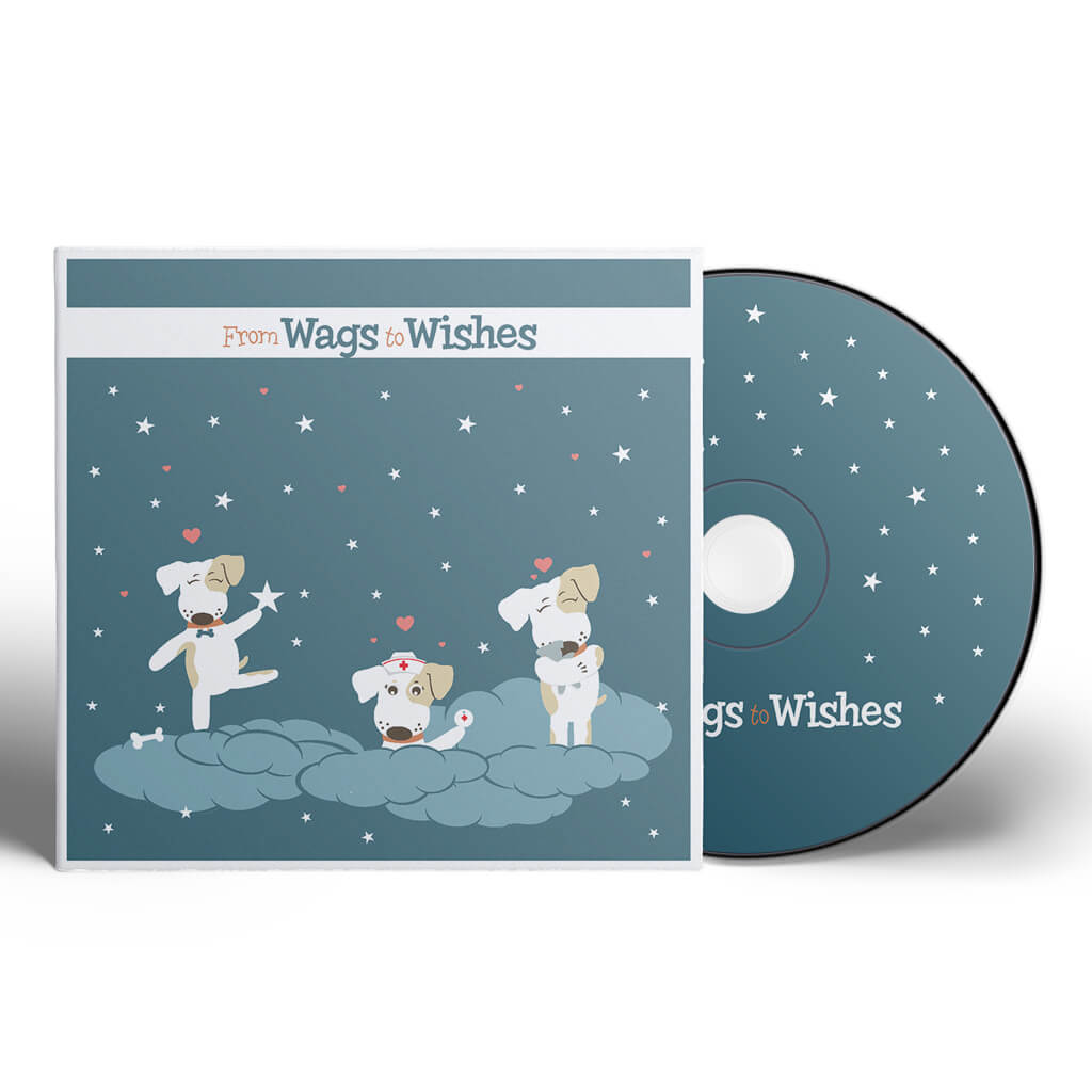 Wags To Wishes Pet Tag Company - Custom Disc Cover Design and Illustration by Sniff Design Studio