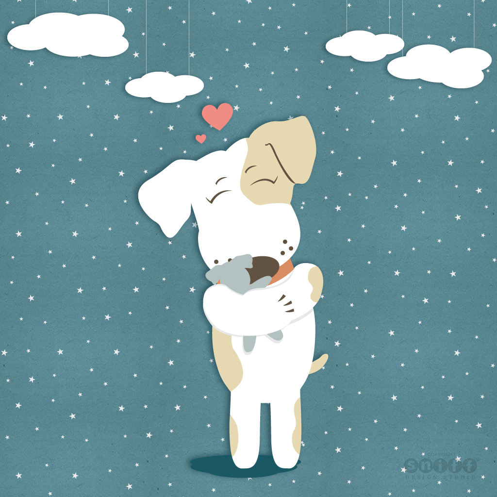 Wags To Wishes Pet Tag Company - Baby Wags, Mascot Character Design