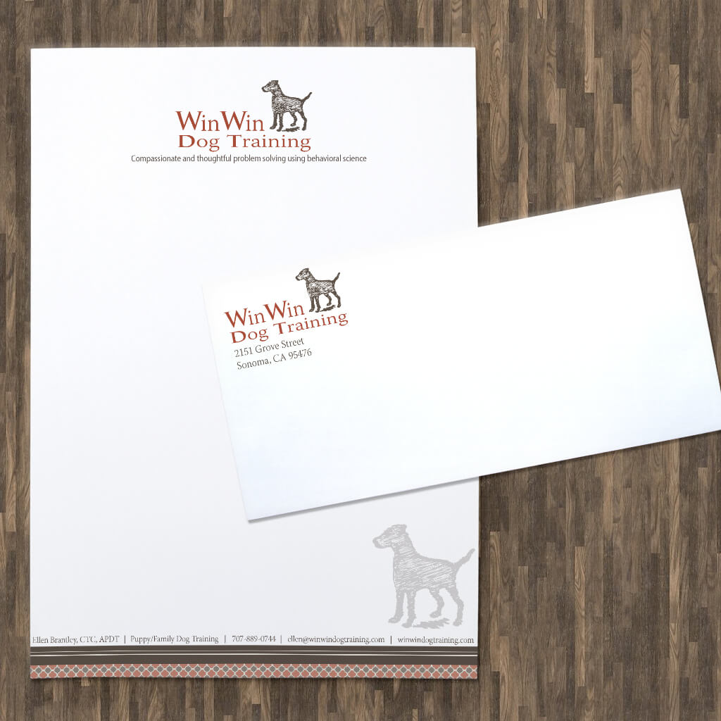 WinWin Dog Training - Pet Business Stationery Set Design