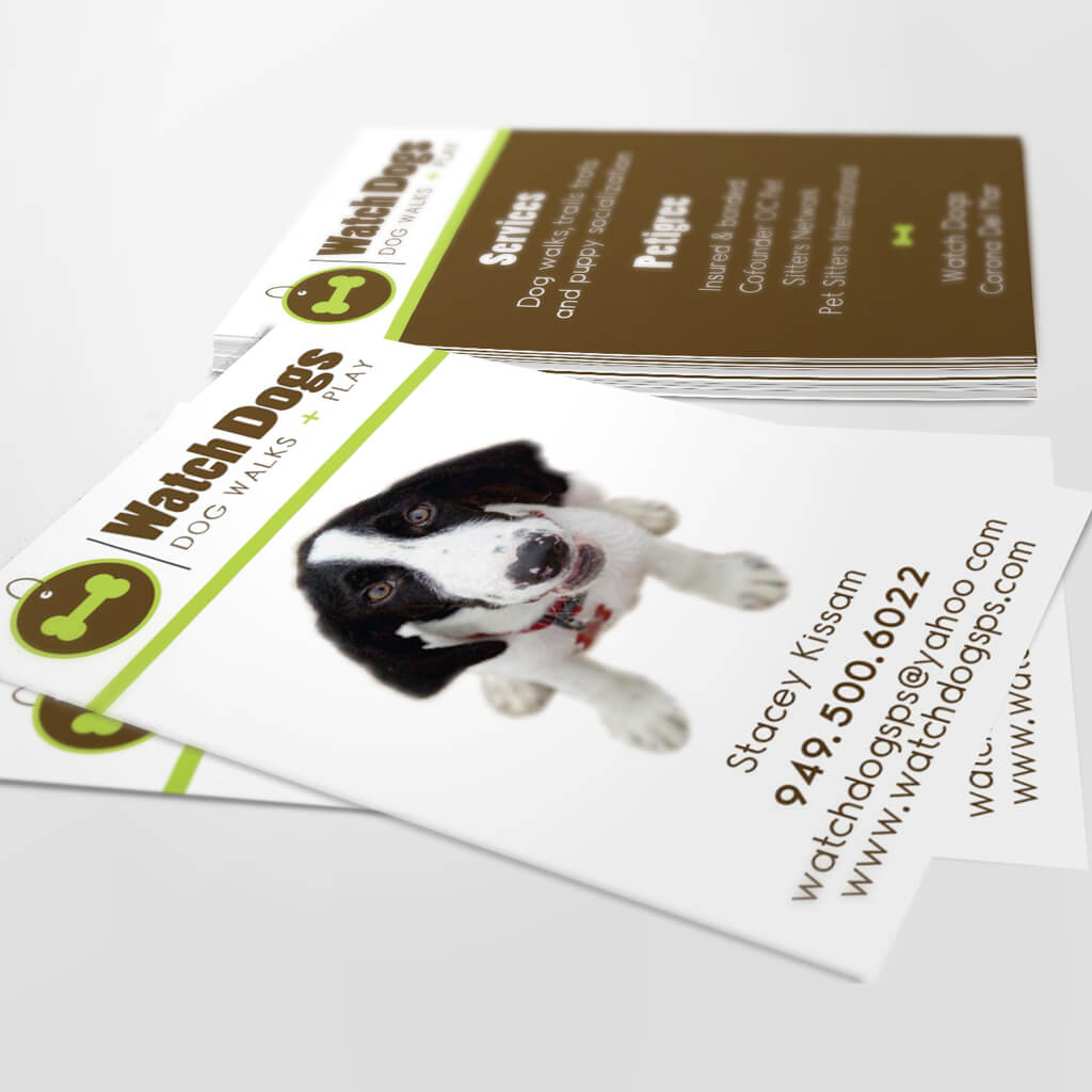 Watch Dogs - Custom Pet Business Card Design by Sniff Design Studio