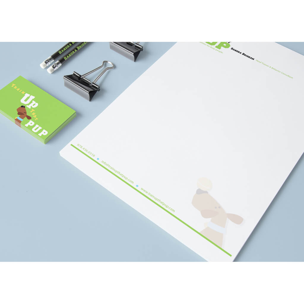 Train Up That Pup - Pet Business Stationery Set Design