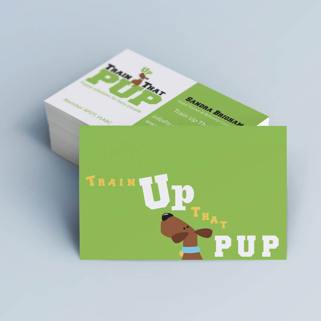 Train Up That Pup Business Card Design by Sniff Design Studio