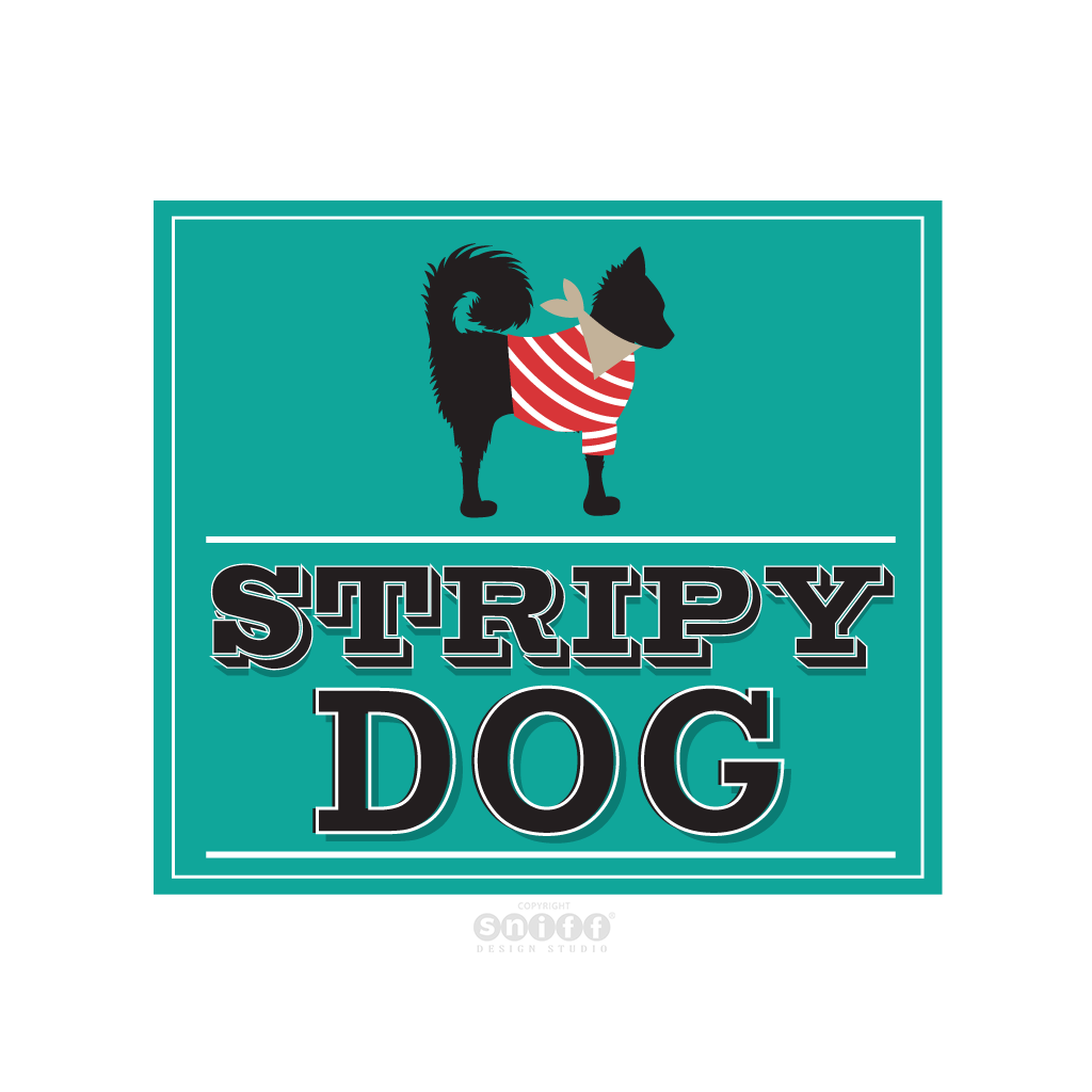 Stripy Dog Pet Boutique - Pet Business Logo Design