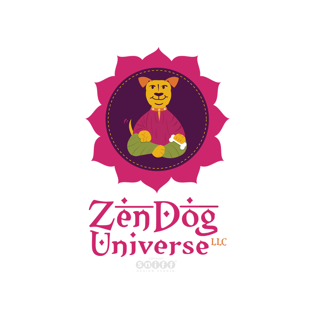 Zen Dog Universe Dog Training Logo Design by Sniff Design Studio