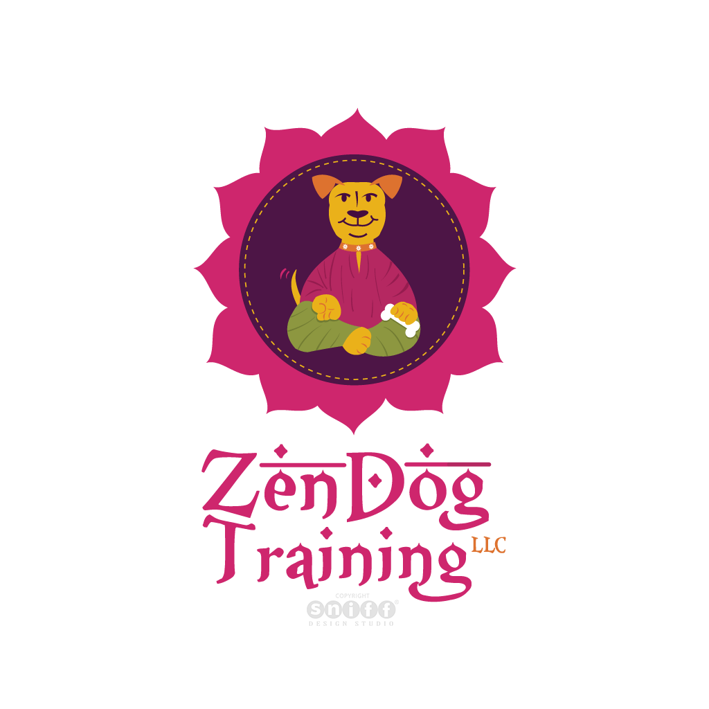 Zen Dog Training Dog Training Logo Design by Sniff Design Studio