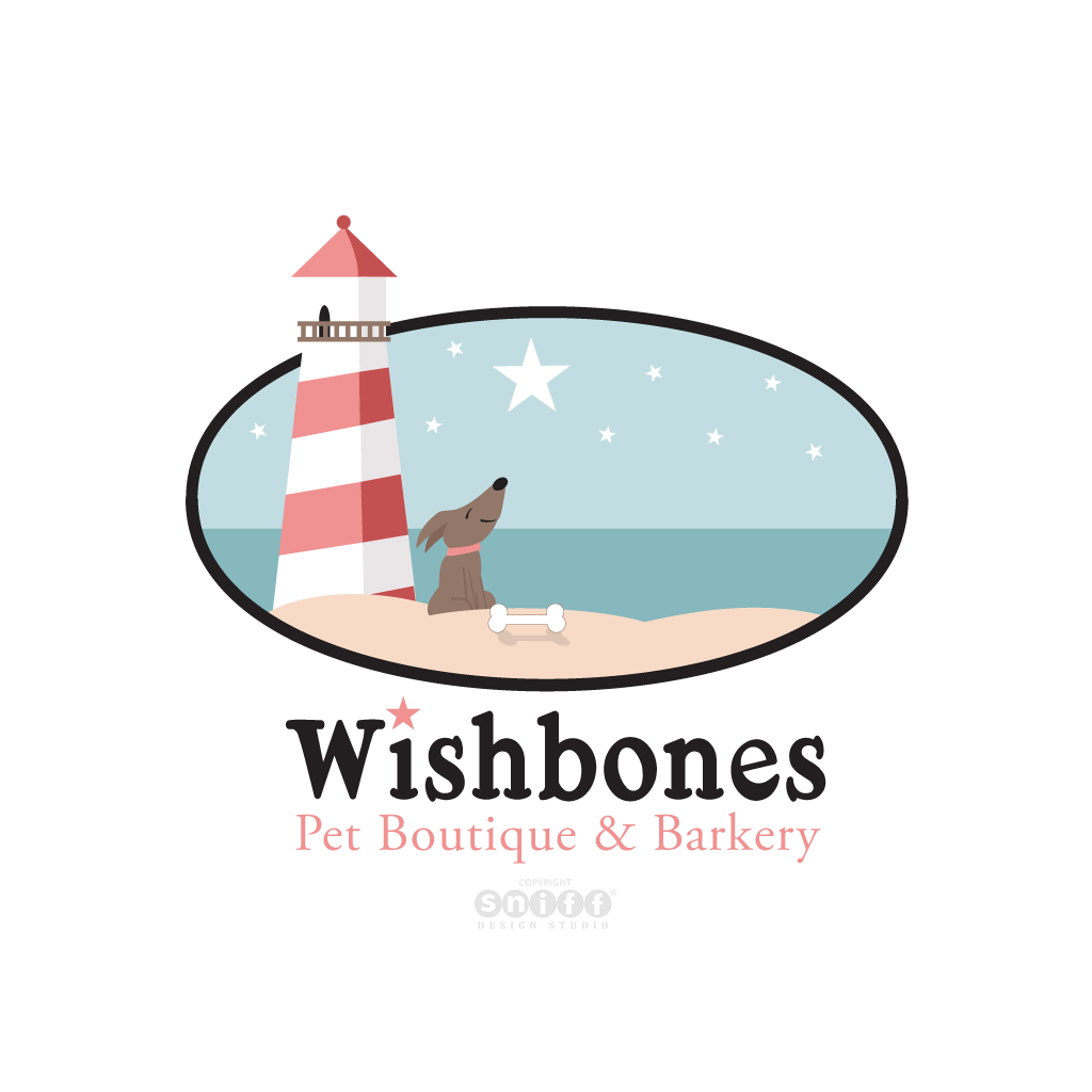 Wishbones Pet Boutique & Pet Bakery - Pet Business Logo Design