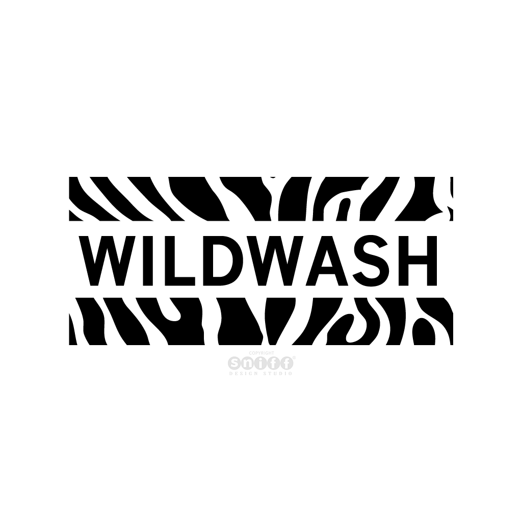 WildWash All Natural Pet & Horse Shampoo - Pet Business Logo Design by Sniff Design Studio