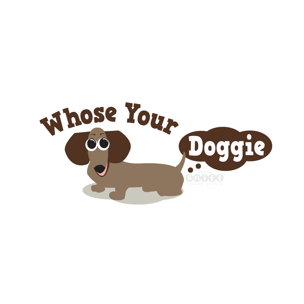Whose Your Doggie - Pet Business Logo Design by Sniff Design Studio