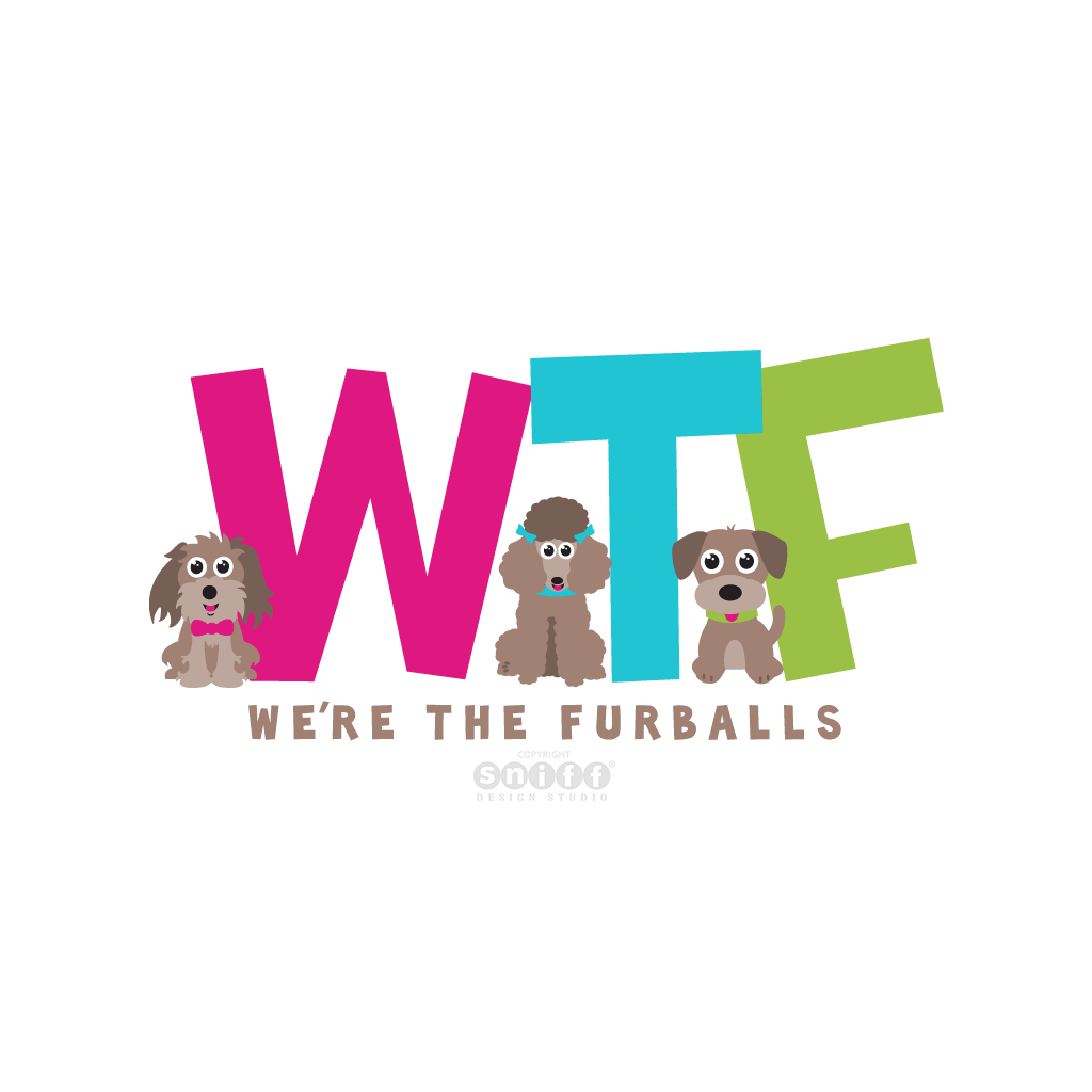 We Are The Furballs Dog Cafe Pet Business Logo Design by Sniff Design Studio