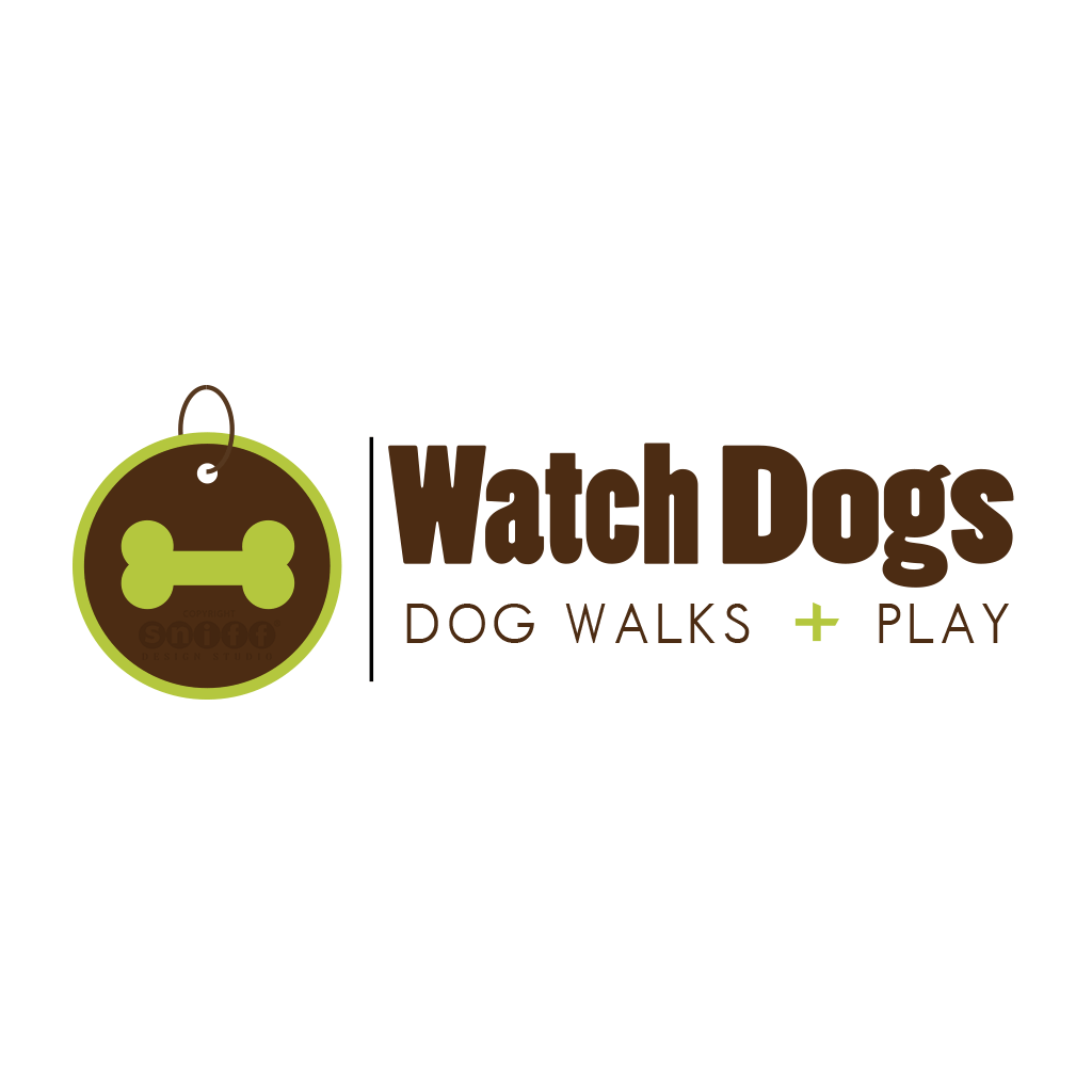 Watch Dogs Pet Walking & Pet Play - Pet Business Logo Design by Sniff Design Studio