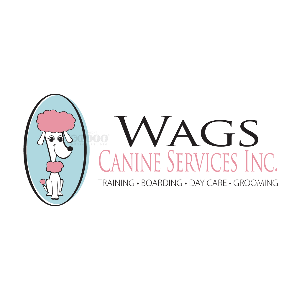 Wags Canine Services Inc. - Pet Business Logo Design by Sniff Design Studio